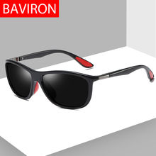 ed53877fa Óculos De Sol Dos Homens Polarizados BAVIRON UV Proteger Óculos De Sol para  Homens Designer Retro Óculos de Sol Piloto Masculino.