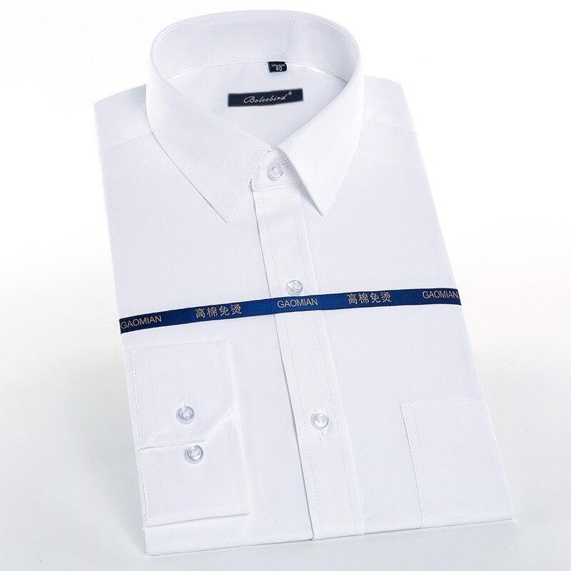 100% Wahr Männer Kleid Shirts Weiß Blau Schwarz Rot Solide Langarm Smart Casual Male Social Hemd Twill Streifen Camisa Masculina Slim Fit üBerlegene (In) QualitäT