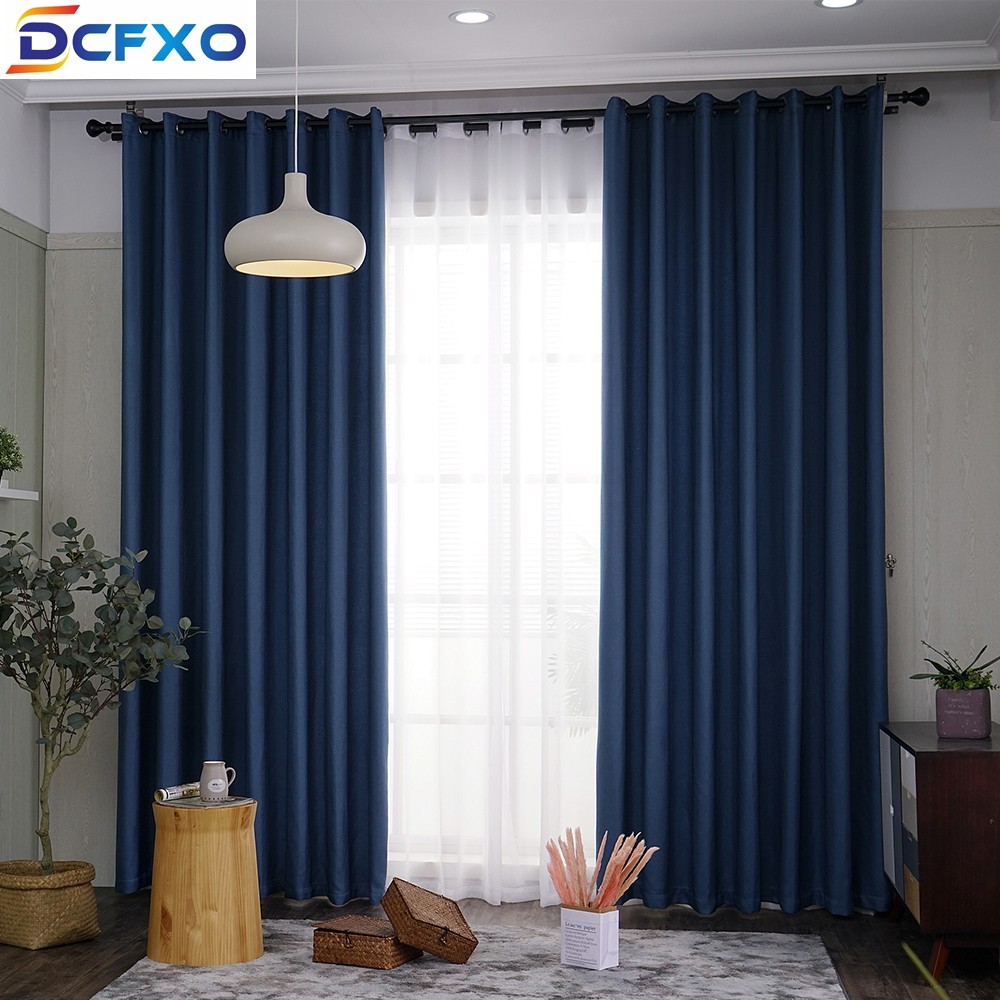 modern bedroom curtain for living rooms faux linen cotton