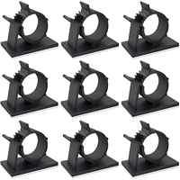 60 Pack Einstellbare Kabelbinder Clips Klebstoff Draht Clips Nylon Draht Klemmen für Auto, Haus und Büro, Schwarz