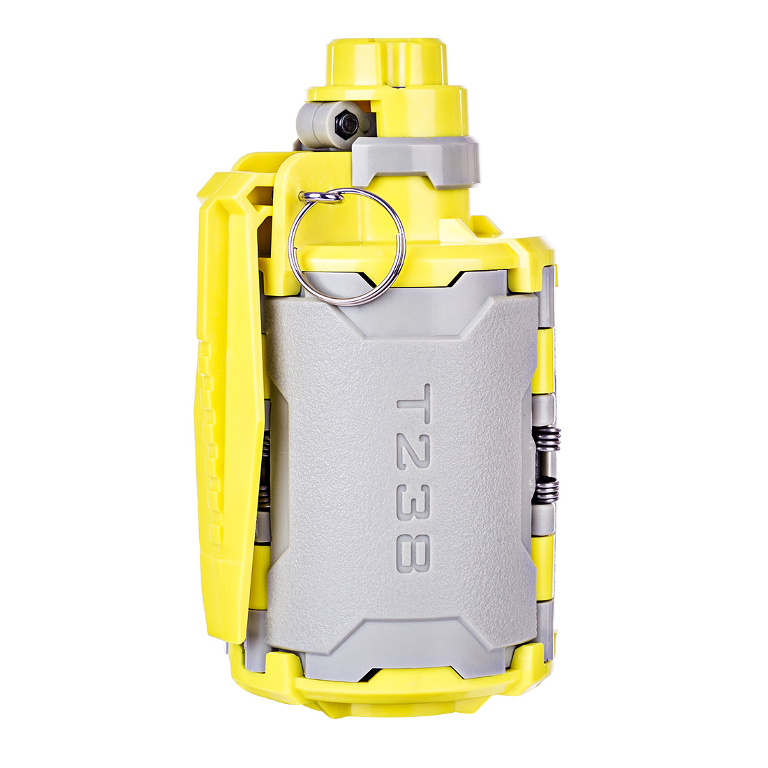 T238 V2 Large Capacity Bomb Toy with Time-delayed Function for Games Gel <font><b>Ball</b></font> <font><b>BBs</b></font> For Airsoft Wargame - Grey + Yellow image
