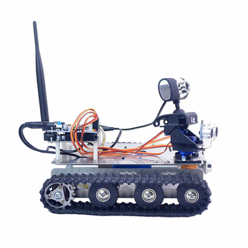Xiao R DIY GFS Wi-Fi беспроводной видео управление Умный Робот Танк автомобильный комплект с камерой для Arduino UNO открытый игрушки для детей Подарки