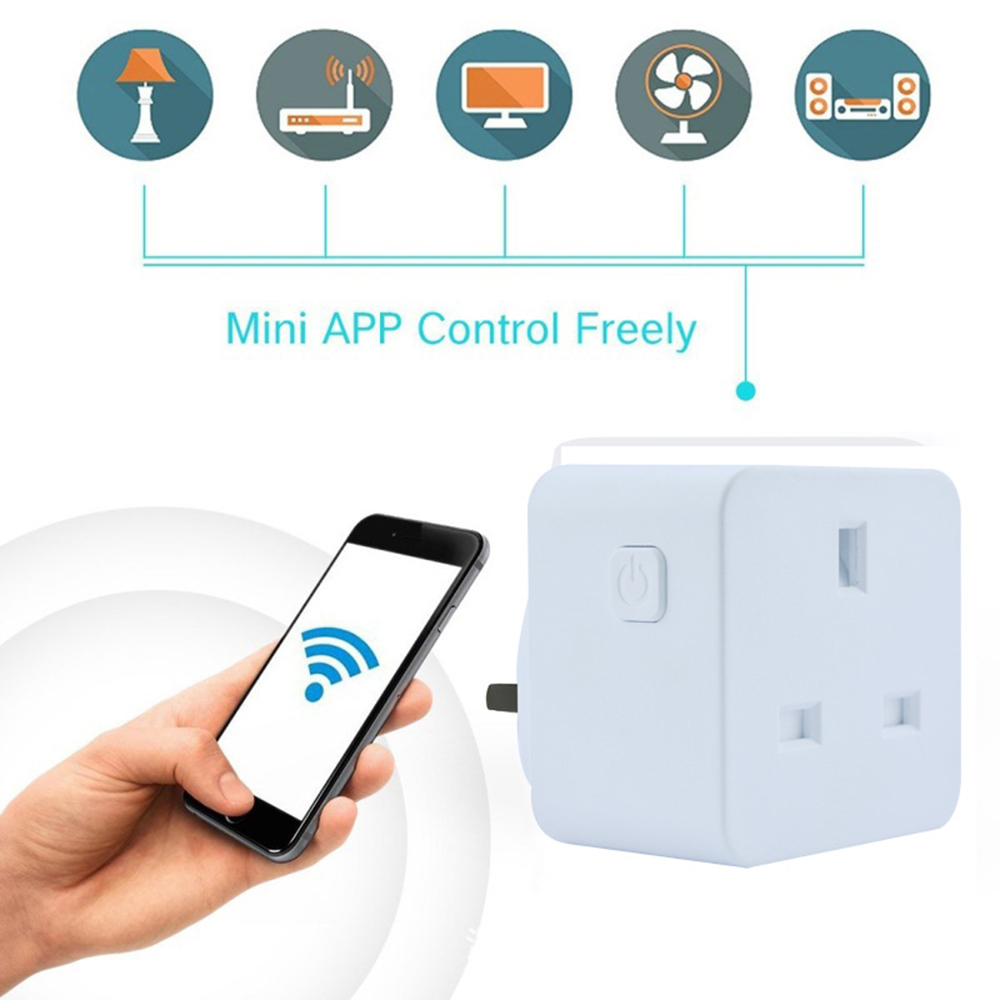 16A Smart Plug With Alexa Google Home Audio Wireless Control UK Wifi Smart Socket Outlet