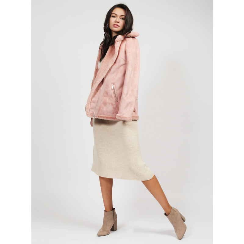 tom farr winter clothes for women short coats pink T4F-W3530_99