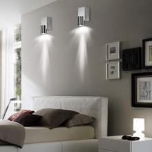 купить Indoor led wall light 3W Aluminum wall sconce AC85-265V Surface mounted Bed room Bedside Modern home decoration Led wall lamp по цене 562.73 рублей