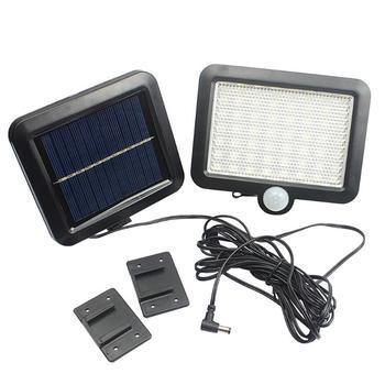 56 LED Solar Power Lights czujnik ruchu ludzkie ciało światło podczerwone zewnętrzna wodoodporna lampa ogrodowa oszczędzanie energii