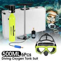 500ml Mini Scuba Oxygen Air Tanks Diving Equipment for Snorkeling Underwater Breathing Regulator Cylinder Gear Accessories