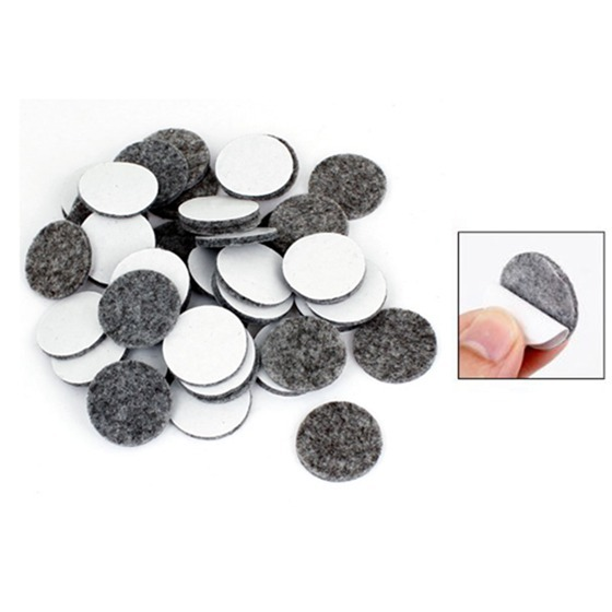 50Pcs Round Shaped Table Chair Furniture Leg Felt Mat Pad Gray 1