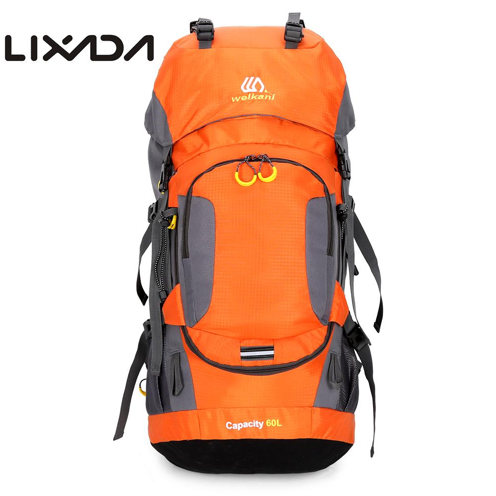Lixada 60L étanche randonnée sac à dos Camping escalade cyclisme sac à dos Sport de plein air Sport sac avec housse de pluie