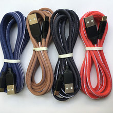 KKREFF 2M Fabric Micro USB Cable For Samsung Sony Huawei P20 Xiaomi Vivo Oppo