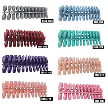 120pcs Fake Short Pointed Coffin False Nail Tips Stiletto False Nails Full Cover Pure Candy Color Ballerinas Press On Nail(China)