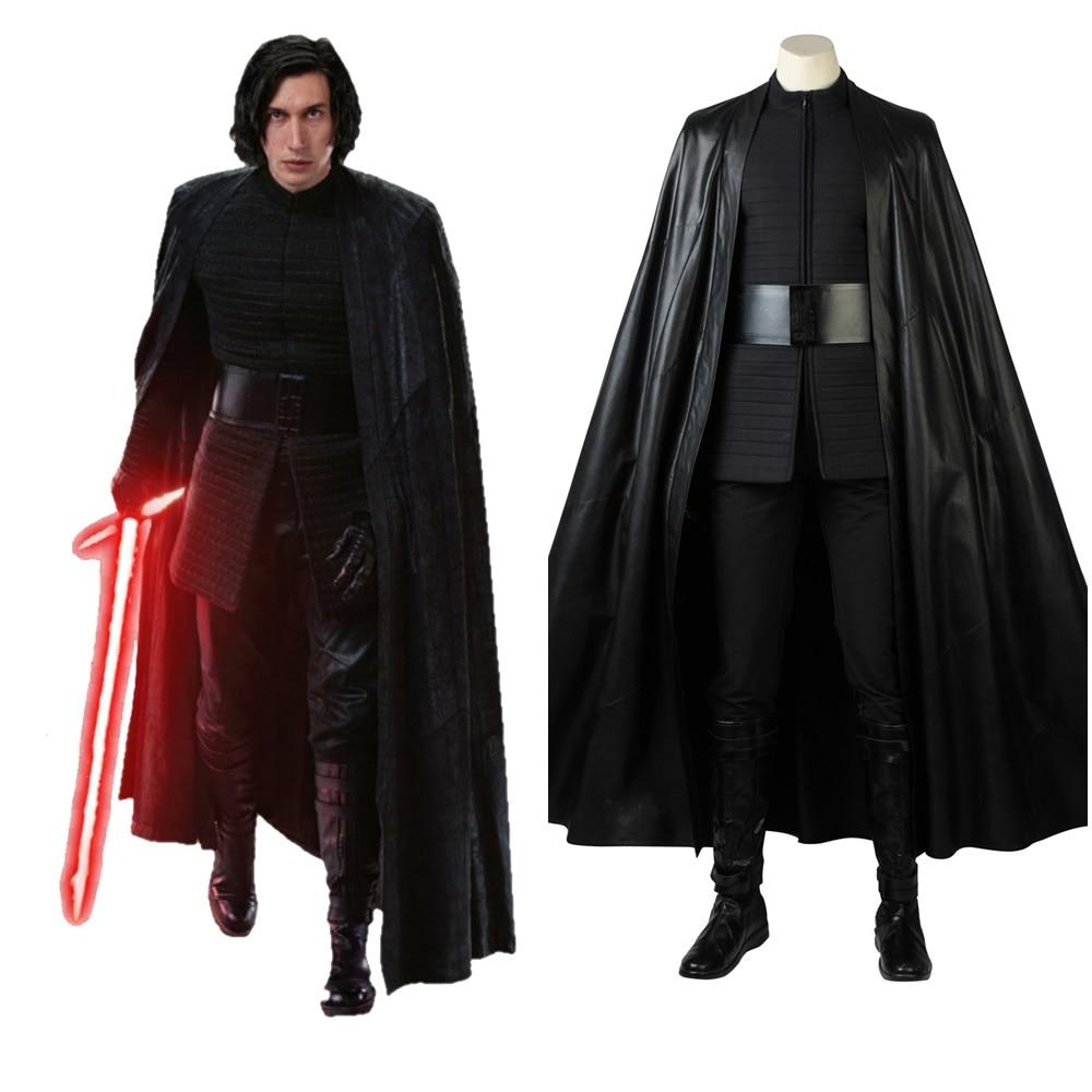 Star Wars The Last Jedi Kylo Ren Cosplay Deluxe Black Costume Custom Made