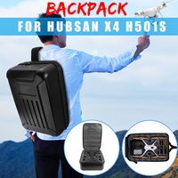 Black Waterproof Hard Shell Backpack Bag Box for Hubsan X4 H501S & H501C Camera Drone Carrying Case