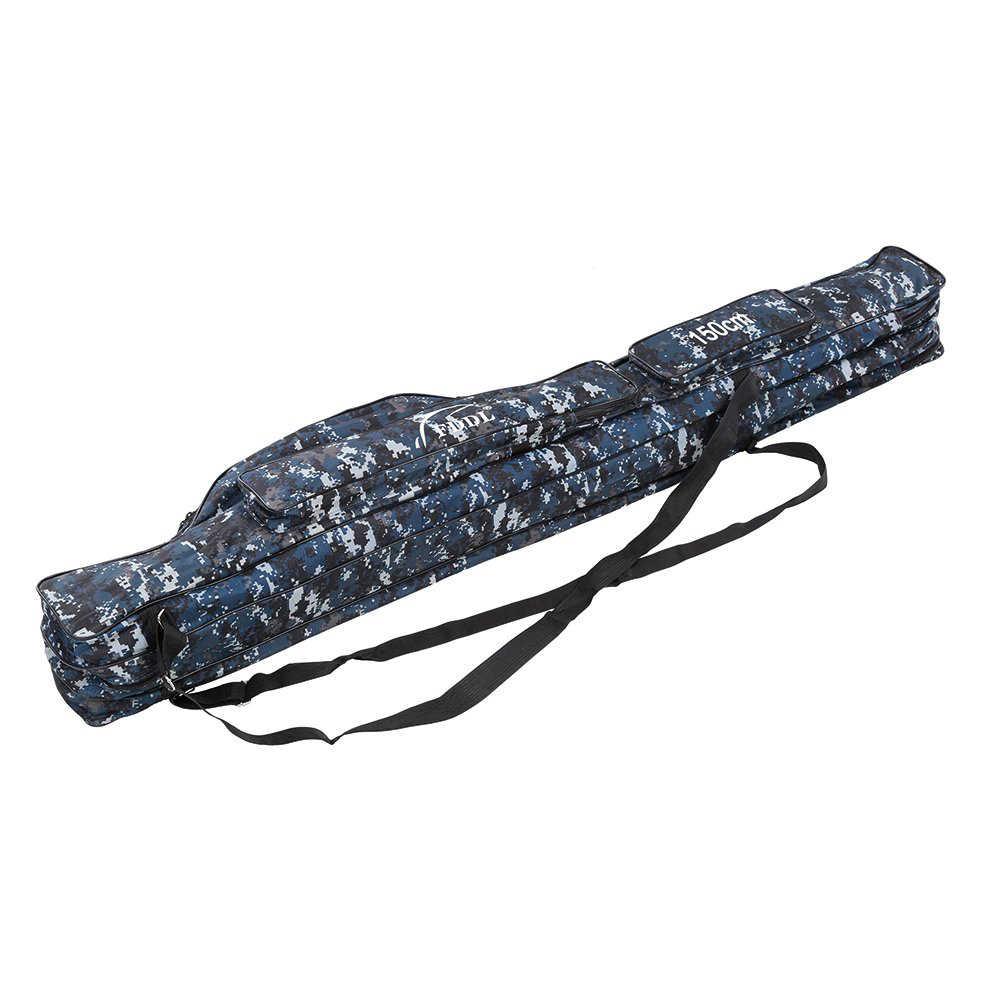 נייד דיג תיק 110/120/130/150 סנטימטר בד חכת דיג כיסוי שני או שלוש שכבות תיק עבור קרס דיג כלים