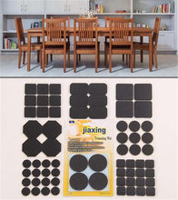 Hot 500sets Self Adhesive Mat Table Chair Round Furniture Leg Pads Protector Feet Floor Square Slip Mats Bumper Home Hardware(China)