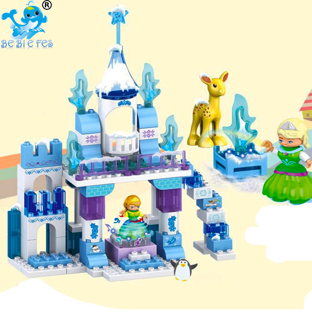 2019 Friends Series Elsa Anna Figures Dress Up Building Block Toys  Compatible LegoING Duplo FrozenING Castle Toys For Children