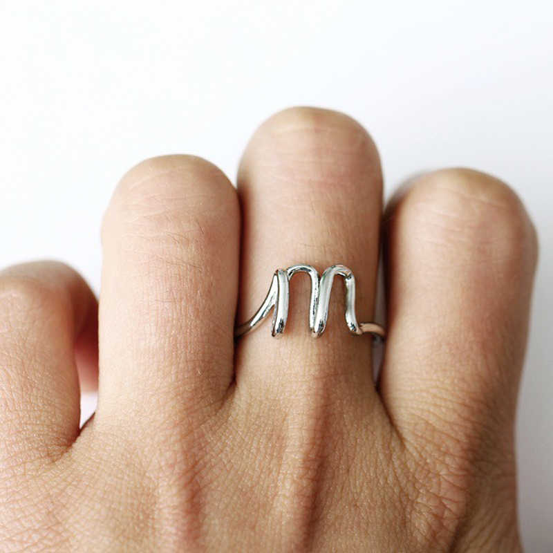 99fb71c234 ... Dainty Initial Ring A To Z Letter Midi Personalized Rings For Women Men Jewelry  Rose Gold ...