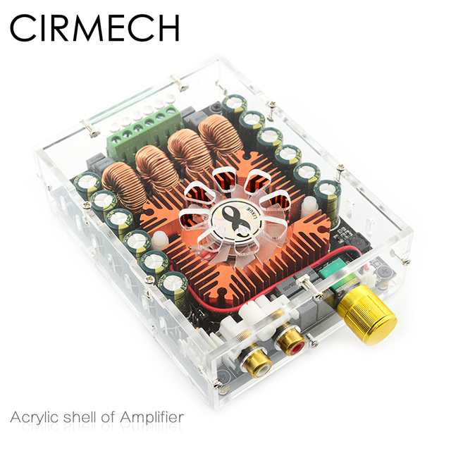 CIRMECH Acrylic amplifier cover only for our store Tda7498E amplifier used Acrylic shell