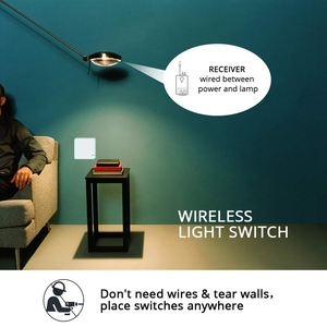Image 2 - Smart Wifi Wireless Light Switch Wall Switch Works With Alexa, Google Assistant, No Hub Required, Remote Control Ceiling Lamp