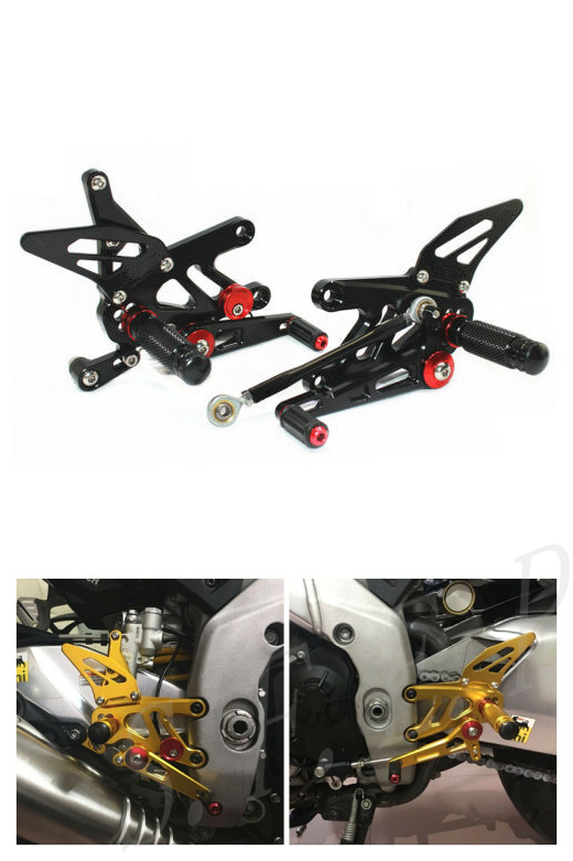CNC Adjustable Rearsets Foot Pegs Rear Set For Aprilia RSV4 FACTORY APRC ABS 2013-2014-2015-2016