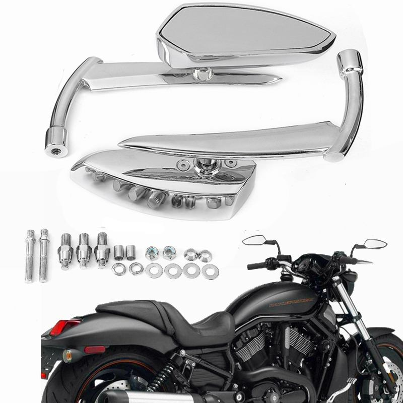 XMT-MOTO 10mm Highway Foot Pegs Footrest Chrome For Harley Davidson Touring Softail Dyna