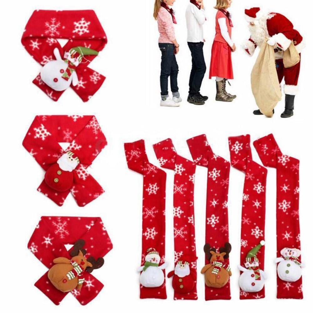 Christmas Scarf Shawl Winter Kids Cartoon Wraps Snowman Warm Xmas Doll Deer Soft Gift