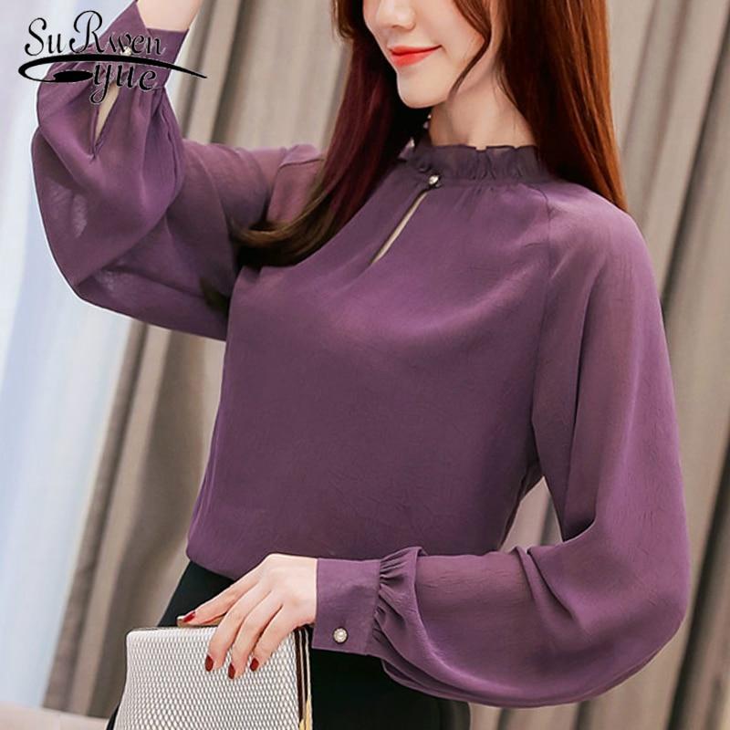 Mode femme blouses 2019 printemps à manches longues femmes chemises bureau travail vêtements femmes blouse chemise femme blusas femininas 1854 50
