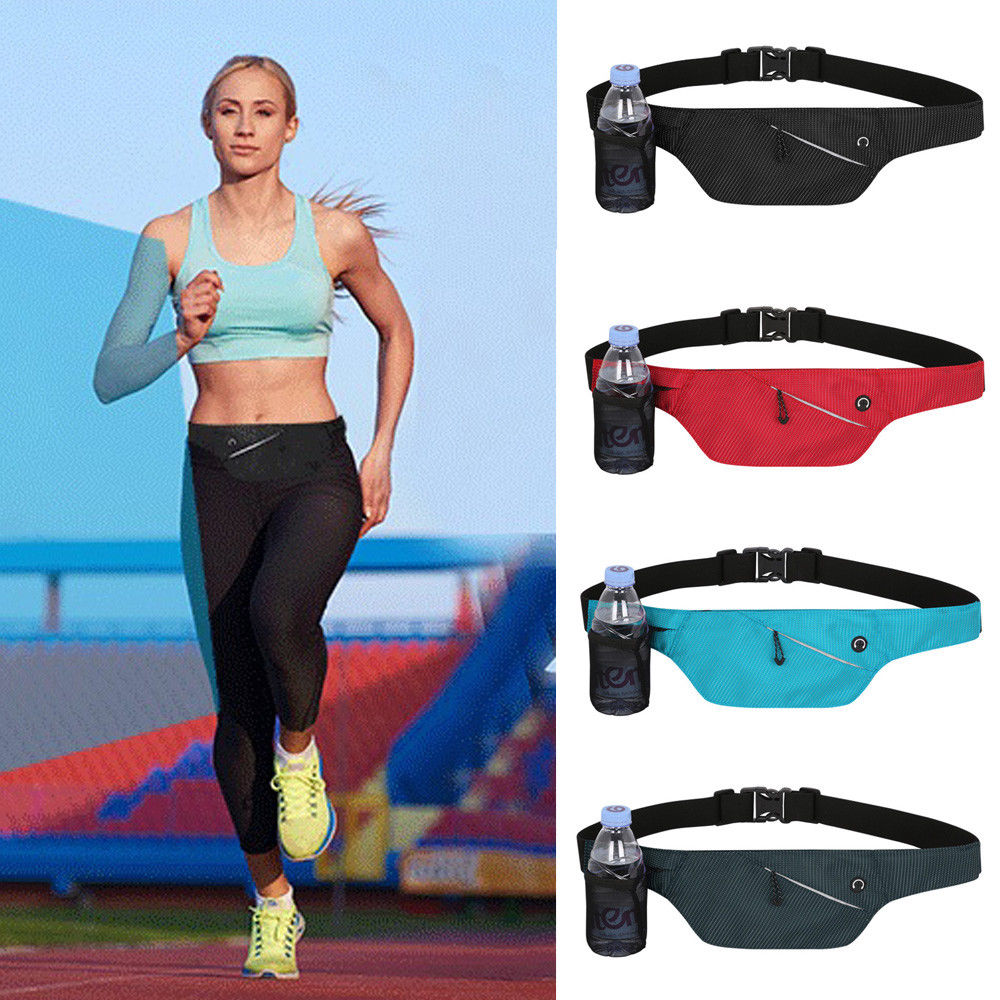 d557478809bb Waist Bum Bag Fitness Running Jogging Cycling Belt Pouch Sports Fanny Pack  Invisibility Earphones Bottle Storage