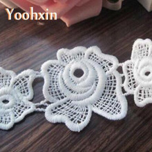 5cm Width New Embroidery Lace Fabric cotton DIY Collar white applique clothes trim crafts ribbon fringe Neckline Sewing supplies