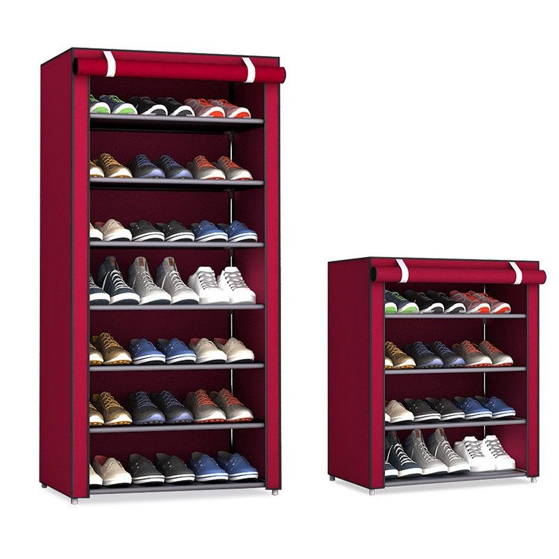 Dustproof Home Shoe Racks Organizer Multiple Layers Shoes Shelf Stand Holder Door Shoe Rack Save Space Home Wardrobe Storage 35