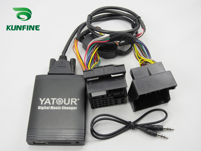 Автомобильный адаптер YATOUR AUX, MP3, SD, USB, музыкальный CD адаптер, разъем для NISSAN Pathfinder Primera Qashqai Teana Tiida X Trail Radio - 6