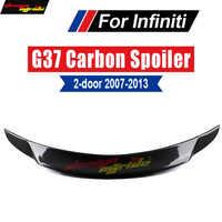 G37 Spoiler Posteriore Posteriore Tronco Ala Labbro fibra di Carbonio Per Infiniti G37 coda Posteriore Spoiler 2 Porta Posteriore Tronco Spoiler ala Lip 2007-2013