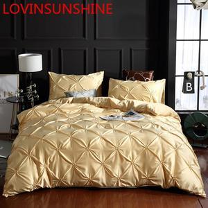 Image 1 - LOVINSUNSHINE Luxury Duvet Cover Bedding Set Queen Bed Quilt Covers Bed Linen Linen Silk AN04#