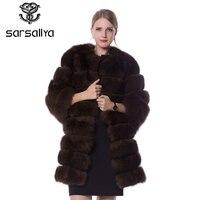 SARSALLYA real fur fox fur coat design ladies winter really fox fur coat detachable real fur coat women
