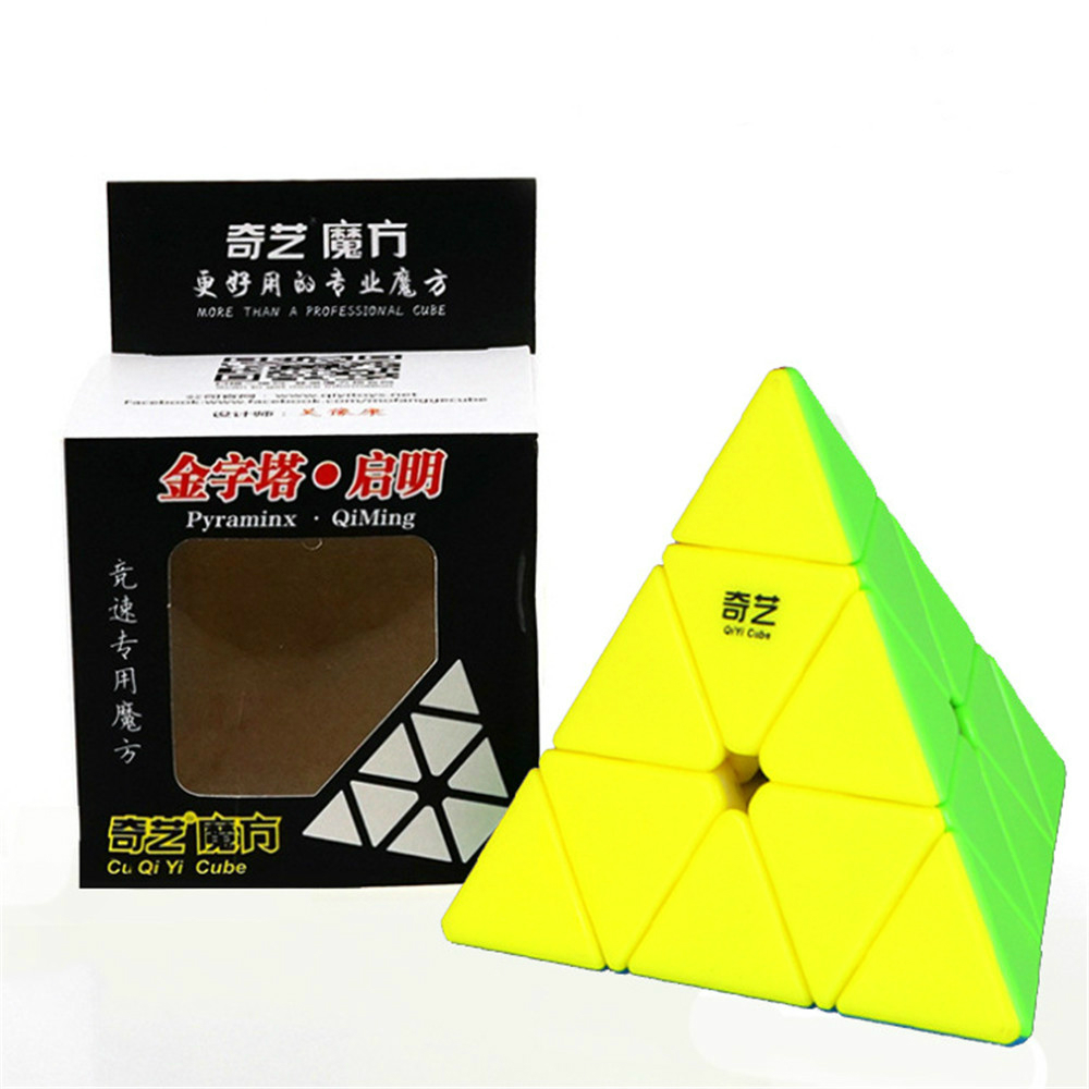 Qiyi 3*3*3 Pyramid Speed Magic Cube Professional Magic Cube Puzzles Colorful Educational Toys For Children