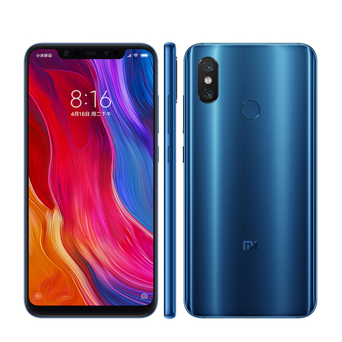 "Xiaomi 8 6GB RAM 64GB ROM Global Version Cell Phone Snapdragon S845 6.21"" Octa Core 2248*1080 NFC Face Recognition Smartphone"