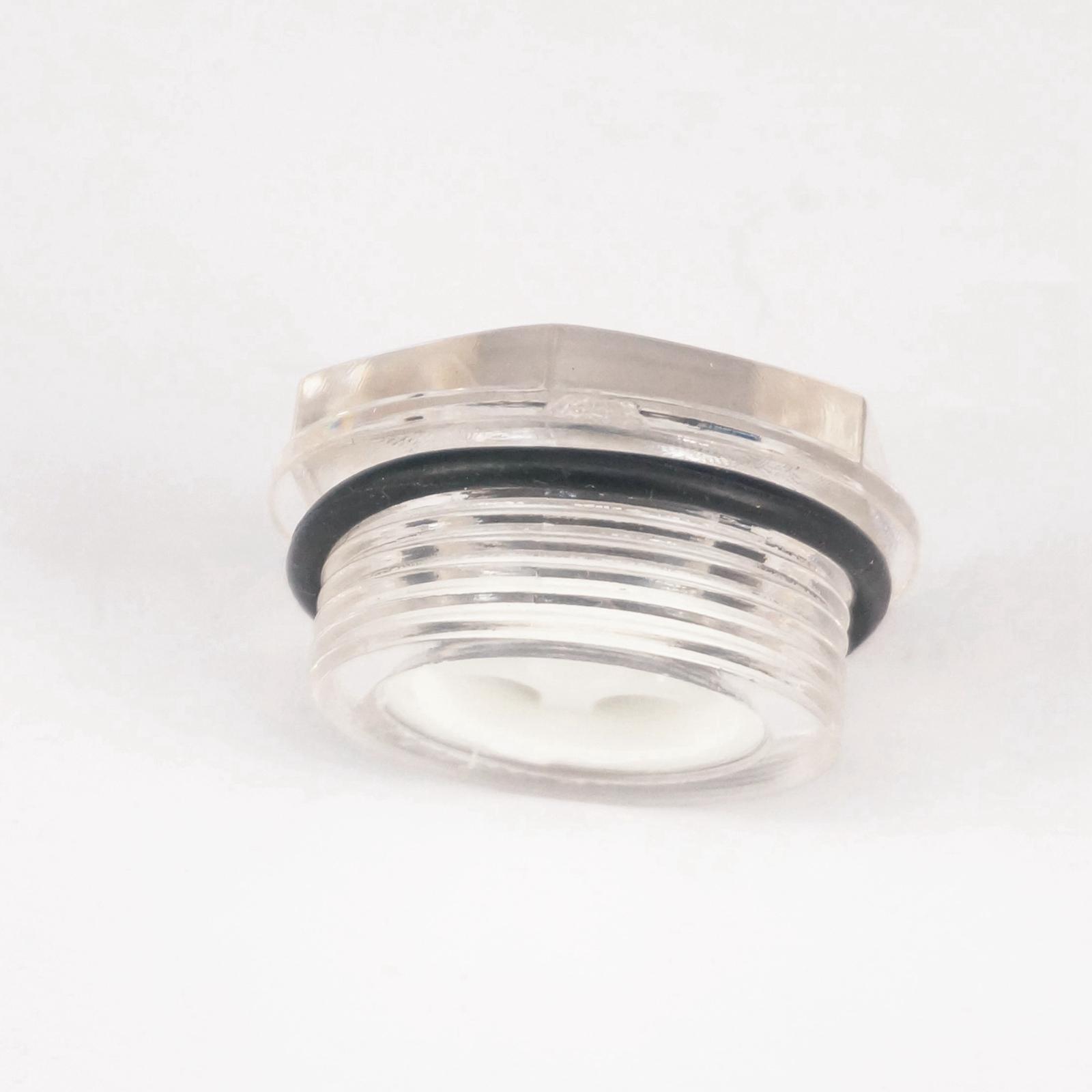 Heimwerker Sanitär Angemessen Kunststoff M33 Pitch 1,5mm Metrischen Männlichen Ölstand Schauglas Fenster Hex Kopf Für Luft Kompressor Getriebe