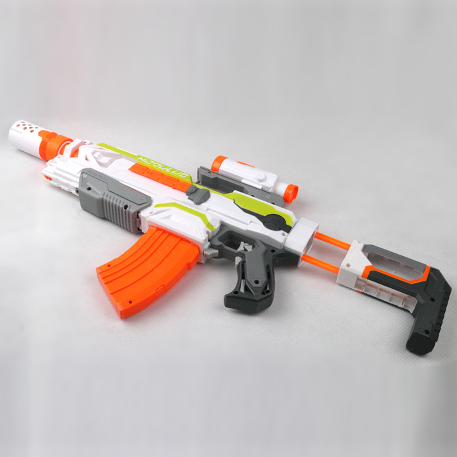 Kids Plastic Muffler Pistol Weapon Model Silencer Sniper Rifle Modified Attachment Front Tube For Nerf Gun Shooting Game Toy