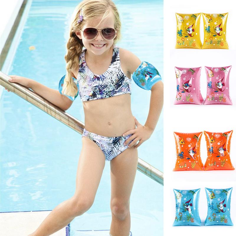 1 Pair Swimming Arm Band Ring Floating Inflatable Sleeves For Adult Child Double Air Bag Anti Drowning Life Saving Bracelet