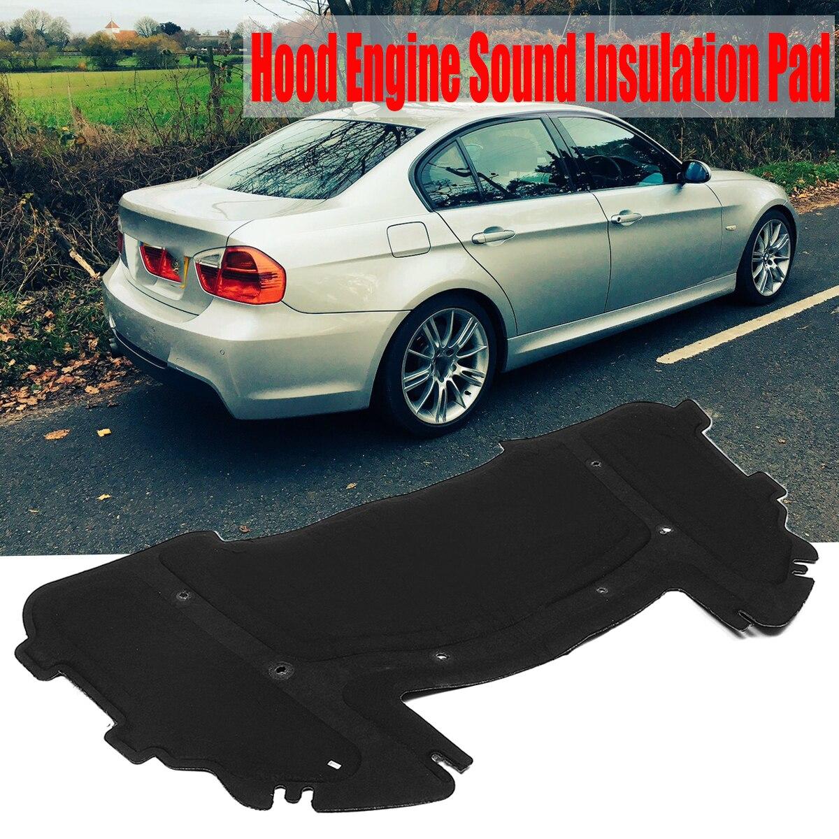 Capot de voiture moteur isolation acoustique Pad pare-feu chaleur tapis Deadener Deadener pour BMW E90 E91 E92 E93 323i 325i 51487059260