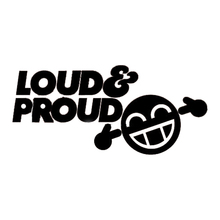 цена на Loud And Proud S2 Smiley Funny Car Sticker, Bumper, Window Jdm Vinyl Sticker Accessories Decorative Decal