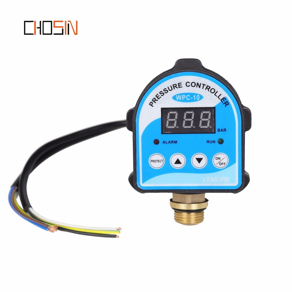 "Russian Pressure Control Switch Digital LED Display Water Pump G1/4"" G3/8"" G1/2"" WPC-10,Eletronic Controller Sensor With Adapter(China)"