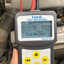 Versione Multi lingua MICRO 200 Automotivo Batteria Digitale CCA Analizzatore di Batteria Del Veicolo Tester Batteria Auto 12V Strumento di Diagnostica