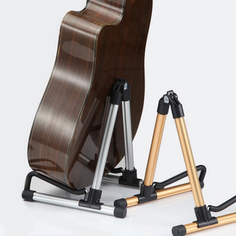 Folding Electric Guitar Stand Universal Professional Electric Acoustic Bass Stand A-Frame Musical Rack Holder Guitar Accessories