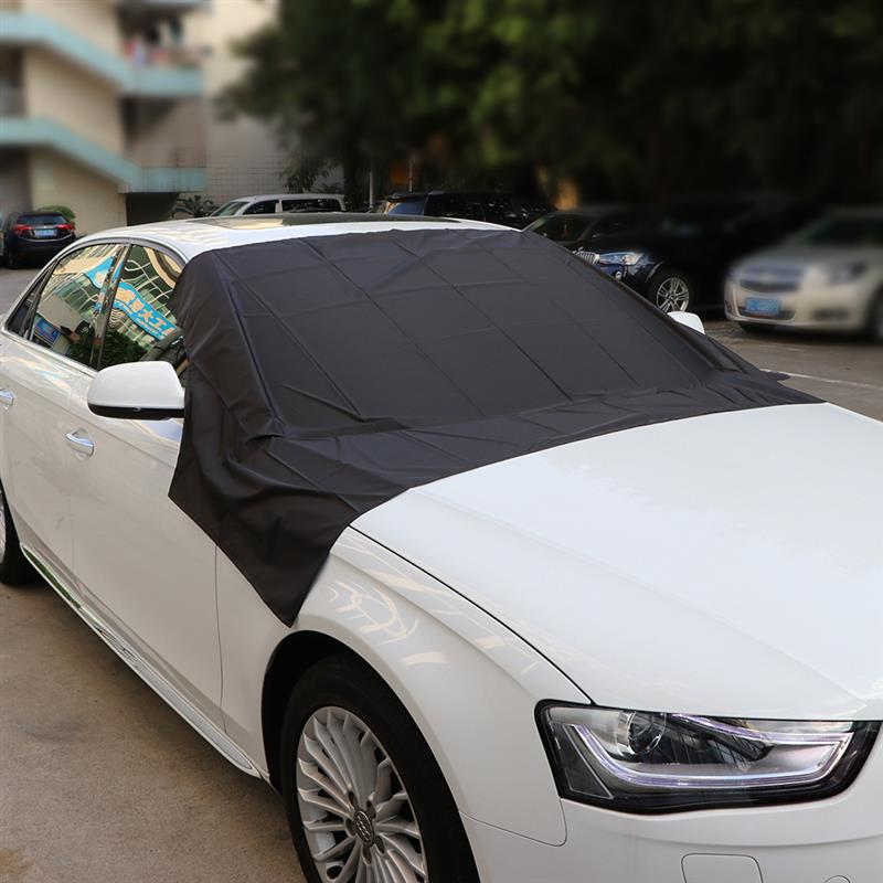 Car Exterior Accessories Windshield Snow Cover Sun Cover Auto Sunshade Tarp Magnetic Edges Remove Ice Frost Polyester Easily-in Windshield Sunshades from Automobiles & Motorcycles