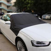 Car Exterior Accessories Windshield Snow Cover Sun Cover Auto Sunshade Tarp Magnetic Edges Remove Ice Frost Polyester Easily