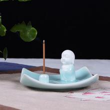 Ceramic Backflow Incense Burner Small Buddha Smoke Waterfall Stick Holder Smell Aromatic Crafts
