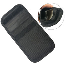 1 pc Signaal Blocker Bag Anti-Tracking Anti-Diefstal Beveiliging Pouch Case Voor Id-kaart Autosleutel fob Mobiele Telefoon Credit Card(China)