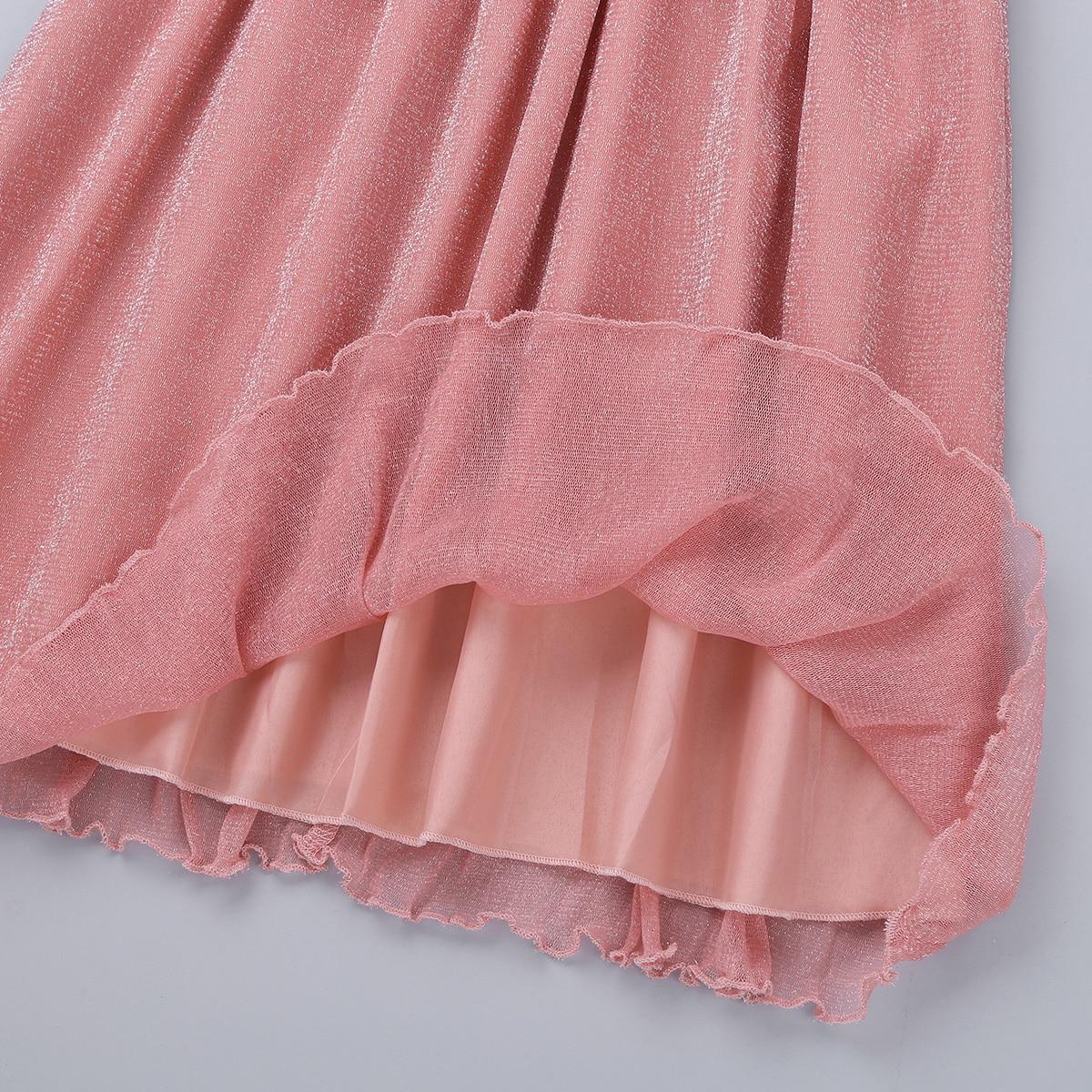 iiniim Teen Girls Sleeveless Sequined Floral Lace Shiny Dress Vestido de festa for Weeding Formal Birthday Party Summer Dresses 5