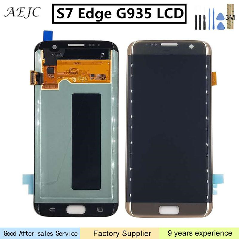 Pour SAMSUNG GALAXY S7 Bord G935 G935F G935A LCD Affichage à L'écran Tactile Digitizer Assemblée 5.5